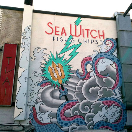 Sea Witch Fish and Chips Mural, Toronto, ON